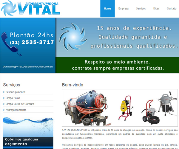 Website Vital Desentupidora